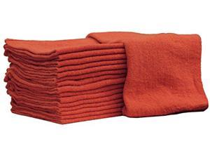 Nabob Wipers Auto-Mechanic Shop Towel Rags  100% Cotton Commercial Grade for Home, Garage & Auto - 14x14 inch.- 25-Pack - Red