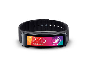 Samsung Galaxy Gear Fit Smart Watch Activity Tracker with Heart Rate Monitor - Black