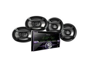 "Pioneer FXT-X7269BT CD Receiver with Bluetooth plus 6.5"" 2-Way Coaxial Speakers plus 6"" x 9"" 3-Way Coaxial Speakers"