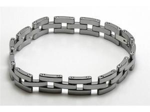 "Men's / Women's 8"" x 7/16"" Tungsten Carbide Bracelet, nice open design"