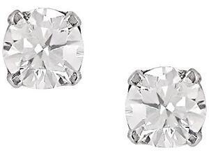 14K White Gold 3/8ct TDW Diamond Stud Earrings