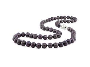 Amour NWS0319B Black Freshwater Pearl Necklace,