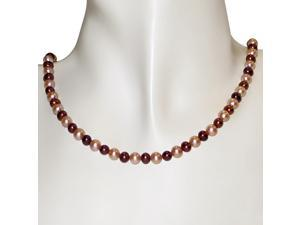 """4-5 mm Brown & Pink Freshwater Pearl Necklace in 10k Yellow Gold, 18"""" in length"""