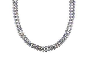 """7-8mm Grey FW Pearl Endless Necklace, 64"""""""
