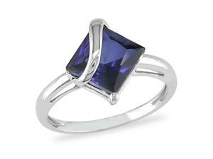 3 ct.t.w. Created Sapphire Ring in 10k White Gold