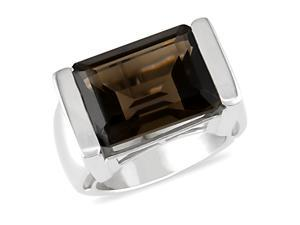 8 ct.t.w. Smokey Topaz Ring in Silver
