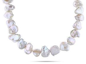 Amour Sterling Silver Freshwater Pearl Necklace (15.5-16mm) (18in)