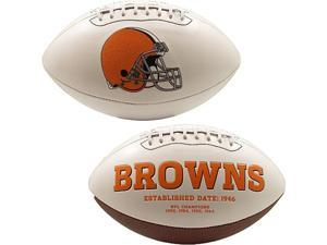 Creative Sports FB-BROWNS-Signature Cleveland Browns Embroidered Logo Signature Series Football