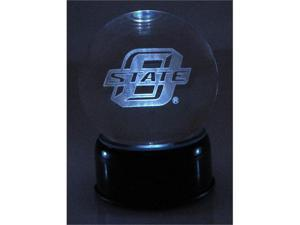Sports Collectors Guild OklahomaStateLEM Oklahoma State Logo Etched In Crystal Globe With Lighted Musical Base