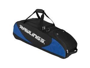 "Rawlings PPWB-R 35"" L x 10.5"" W x 11.5"" H Bat Bag Wheeled Royal - Blue 4"