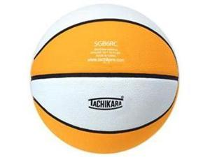 Tachikara SGB6RC.GDW Indoor-Outdoor Rubber 28.5 Intermediate Basketball - Gold-White
