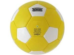 Tachikara SM5SC.GDW Man-Made Leather Soccer Ball - Size 5 - Gold-White