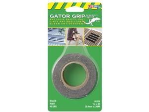 Incom Manufacturing 1in. X 8ft. Black Gator Grip Anti Slip Safety Grit Tape  RE171