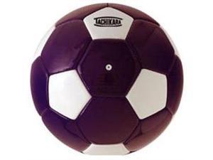Tachikara SM4SC.PRW Man-Made Leather Soccer Ball - Size 4 - Purple-White