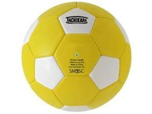 Tachikara SM3SC.GDW Man-Made Leather Soccer Ball - Size 3 - Gold-White