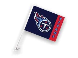 Fremont Die- Inc. 98943 Car Flag W/Wall Brackett  - Tennessee Titans