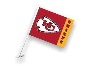 Fremont Die 98977 Kansas City Chiefs- Car Flag W-Wall Brackett