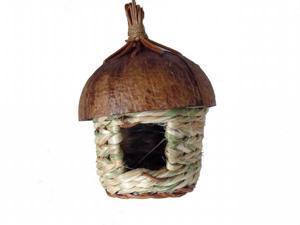 TDI N2232 Coco Topped Square Bird Hut