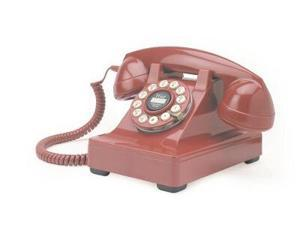 Crosley Radio CR60-RE The Crosley 302 Desk Phone Red