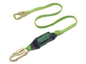 Miller by Sperian 493-913B/6FTGN 6' Backbiter Tie Back Lanyard W-Snap Hooks Green