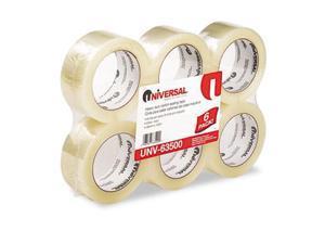 "General-Purpose Box Sealing Tape 48mm x 100m 3"" Core Clear 6/Pack"
