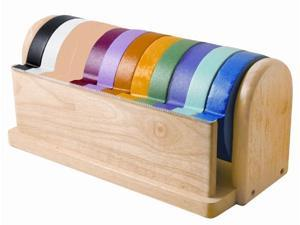 Early Childhood Resources ELR-0359 Hardwood Craft Tape Dispenser & 10 pack Assorted Tape