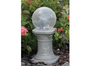 Smart Solar 3560MRM1 Chameleon Crackled Glass Solar Gazing Ball