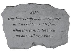 Kay Berry- Inc. 99920 Son-Our Hearts Still Ache In Sadness - Memorial - 16 Inches x 10.5 Inches x 1.5 Inches