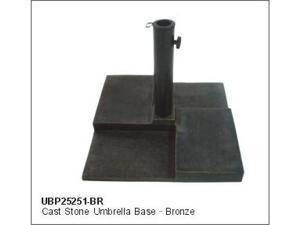 DC America UBP25251-BR Square Cast Stone Umbrella Base- Bronze