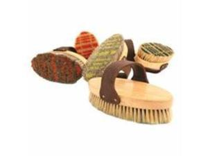 Desert Equestrian 020181 Assorted Plaid Legends Horsehair Body Brush - Pack of 12