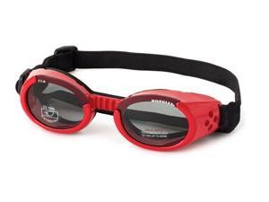 Doggles DGILMD13 Medium ILS - Shiny Red - Smoke Lens