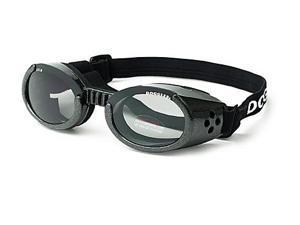 Doggles DGILSM01 Small ILS - Metallic Black Frame - Smoke Lens