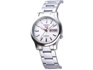 Seiko 5 White Dial Automatic Mens Watch SNK789