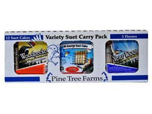 Pine Tree Farms PTFVP6000 Variety Suet Pack Year Round, Hi-Energy, Woodpecker