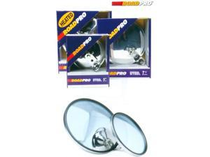 RoadPro RP-19S 8.5 Stainless Steel Adjustable Convex Mirrors - Center Stud