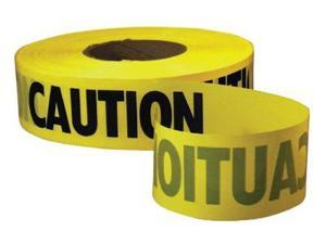 "Caution Barricade Tape 3"" x 1000ft Yellow/Black"