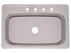 Franke Kindred 33in. X 22in. X 8in. Radiant Silk Single Bowl Top Mount Kitchen Sink FS