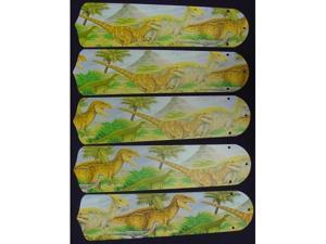 Ceiling Fan Designers 52SET-KIDS-DDTJ Dinosaurs T-Rex Jurassic 52 in. Ceiling Fan Blades Only