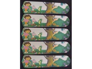Ceiling Fan Designers 52SET-KIDS-DTEB Dora The Explorer & Boots 52 in. Ceiling Fan Blades Only