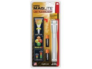 Mag Maglite 2 AA Silver LED with Nylon Sheath