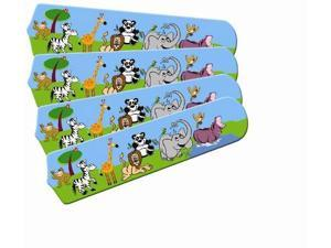 Ceiling Fan Designers 42SET-IMA-JPA Jungle Party Animals 42 In. Ceiling Fan Blades Only