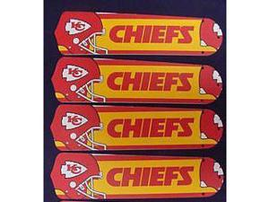 Ceiling Fan Designers 52SET-NFL-KAN NFL Kansas City Chiefs 52 In. Ceiling Fan Blades Only