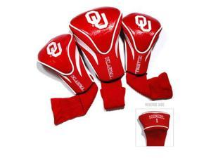 Team Golf 24494 Oklahoma Sooners 3 Pack Contour Fit Headcover