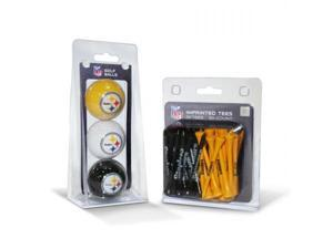 Team Golf 32499 Pittsburgh Steelers 3 Ball Pack and 50 Tee Pack