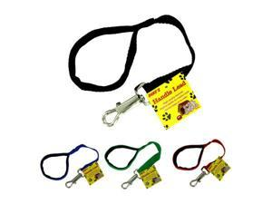 Dog lead with padded handle -assorted colors - Pack of 96