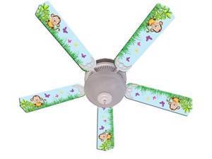 Ceiling Fan Designers 52FAN-IMA-BMMB Baby Monkey Mischief With Banana Ceiling Fan 52 In.