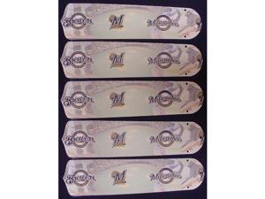 Ceiling Fan Designers 52SET-MLB-MIL MLB Milwaukee Brewers Baseball 52 In. Ceiling Fan Blades OnLY