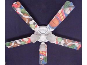 Ceiling Fan Designers 52FAN-KIDS-SSS General Sports Ceiling Fan 52 in.