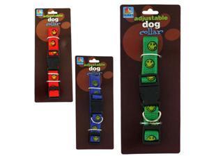 "Bulk Buys DI320-96 12"" x 12"" x 12"" Happy Face Dog Collar - Pack of 96"