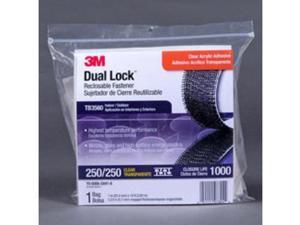 3M TB3560 1 x 10 ft. Dual Lock Reclosable Fastener Clear